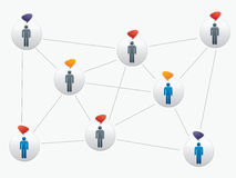 Social network. Ing between friends on the Internet Royalty Free Stock Photography