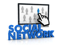 Social network. Image to show the concept of social network or team work (3d render Stock Photography
