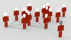 Social Network. Many people connected in a social network Royalty Free Stock Photos