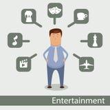 Social network. Vector illustration - social network pattern Stock Image