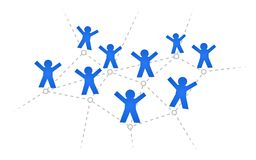 Social network. People connected in network. Vector available Stock Photography