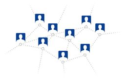 Social network. People connected in network. Vector available Royalty Free Stock Images