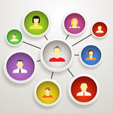 Social network. Abstract scheme of social network Stock Image