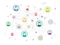 Social network royalty free illustration