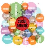 Social network. Concept,  illustration, with strokes Stock Photos