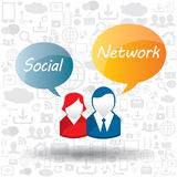 Speech bubble and social network Royalty Free Stock Photography