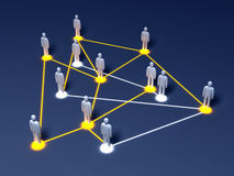Social Network. Connected People. 3D rendered illustration Stock Photos