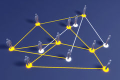Social Network. Connected People. 3D rendered illustration Stock Images