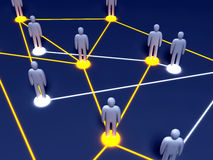Social Network. Connected People. 3D rendered illustration Royalty Free Stock Images