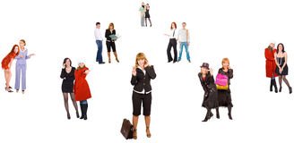 Social network. Of Business Concepts multiple series Royalty Free Stock Image