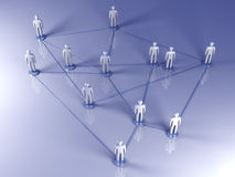 Social Network. Connected People. 3D rendered illustration Stock Photo