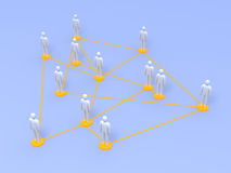 Social Network. Connected People. 3D rendered illustration Royalty Free Stock Photography