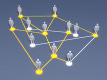 Social Network. Connected People. 3D rendered illustration Royalty Free Stock Image