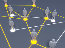 Social Network. Connected People. 3D rendered illustration Stock Photography