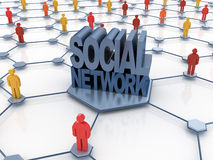 Social network abstract Stock Photos