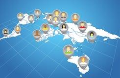 Social network abstract scheme stock illustration