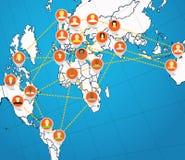 Social network abstract scheme Stock Photos