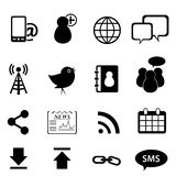 Social Network And Media Icons Royalty Free Stock Photography