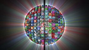 Social Network, Animated Icons, shine stock footage