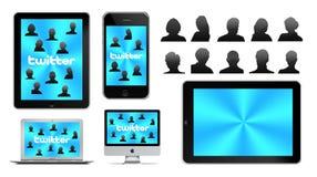 Social network on Apple Stock Image