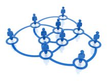Social network around Royalty Free Stock Photo