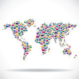 Social network around the world concept. Stock vector Royalty Free Stock Photo