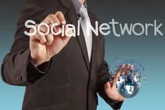Social network as concept Stock Photos