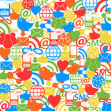 Social network background. Social network symbols as background Royalty Free Stock Photos