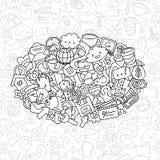 Social network background stock illustration