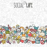 Social network background Stock Photography