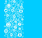 Social Network background of the icons vector. Social Network background of the icons Royalty Free Stock Image