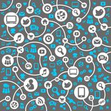 Social Network background of the icons vector Stock Photography