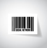 Social network barcode upc. illustration design Stock Photo