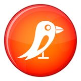 Social network bird icon, flat style Stock Images