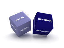 Social network blocks Stock Photos