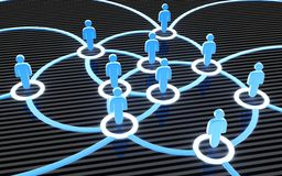 Social network blue Stock Photo