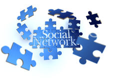 Social network blue and white Royalty Free Stock Images