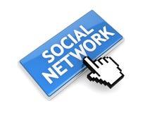 Social network button Stock Photography