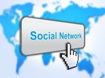 Social network button Royalty Free Stock Images