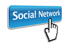Social network button Stock Photography