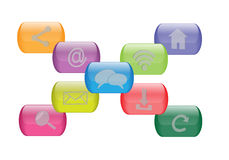 Social network buttons Royalty Free Stock Photography