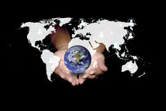 Social network can help the world to be green. Technology concep Royalty Free Stock Photography