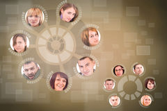 Social network circle Royalty Free Stock Photos