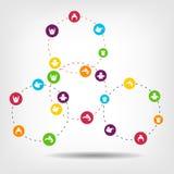 Social Network Circles image logo Stock Images