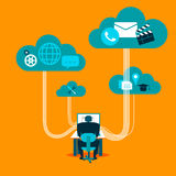 Social network cloud Stock Images