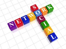 Social network - colour crossword Royalty Free Stock Image