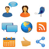Social network and communication Royalty Free Stock Photos