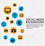 Social network, communication background Stock Image