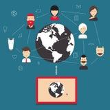 Social network, communication, communication. Stock Photos