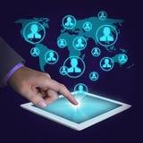 Social network communication concept Stock Photos